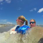 Catching the waves with kids