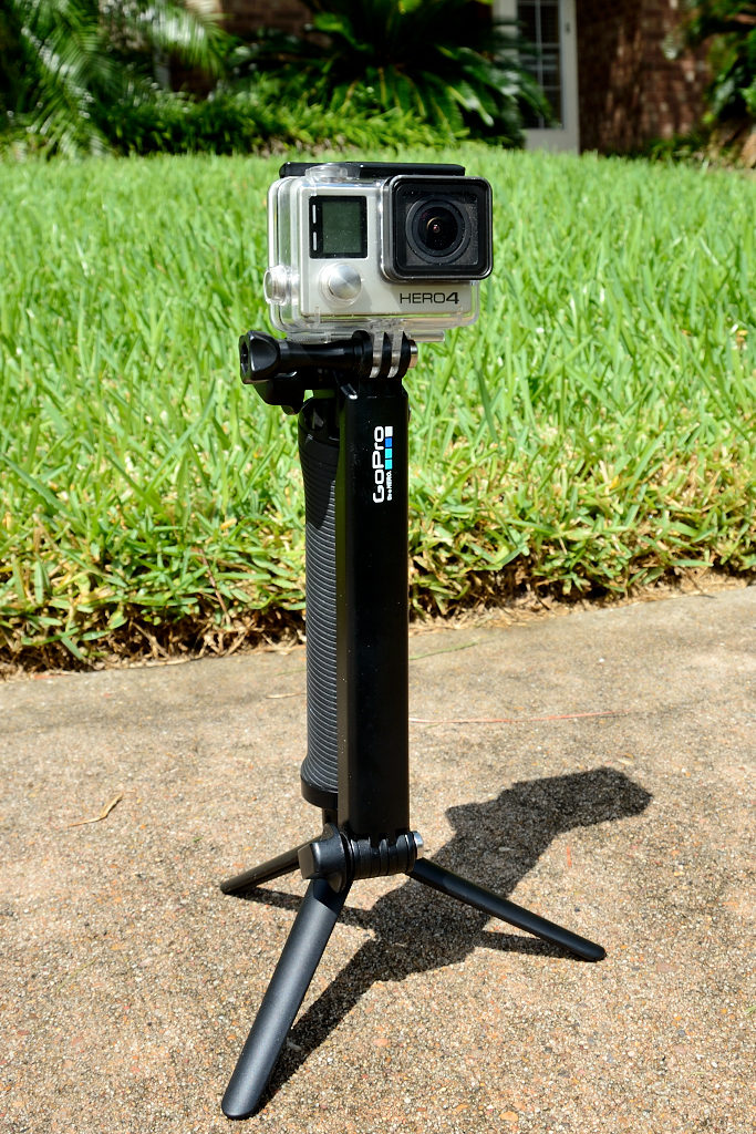 GoPro 3-Way used as a tripod