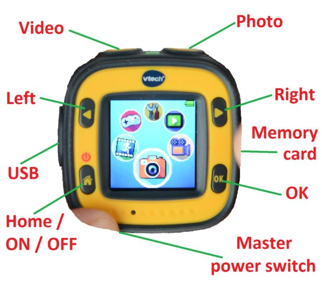 VTech Kidizoom - buttons and ports
