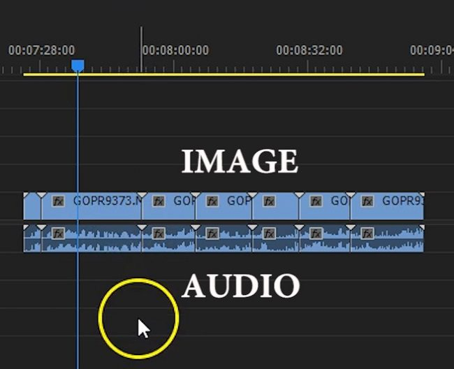 Adobe Premiere Pro - separate image and audio part